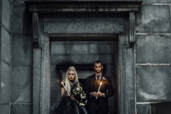 Wiccan inspired autumnal cemetery wedding shoot
